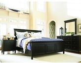 Universal Furniture Summer Hill Complete Panel Bed in Midnight Finish