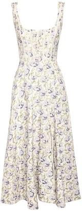 Brock Collection Ottoman Print Midi Dress