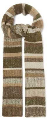 The Elder Statesman Striped Cashmere Scarf - Womens - Multi