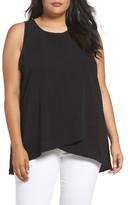 Sejour Plus Size Women's Crisscross Front Top