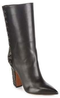 Valentino Mid Calf Beaded Boots