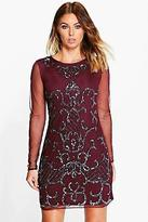 boohoo NEW Womens Boutique Myleene Embellished Bodycon Dress in Polyester