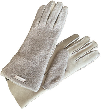 Burberry Beige Leather Gloves