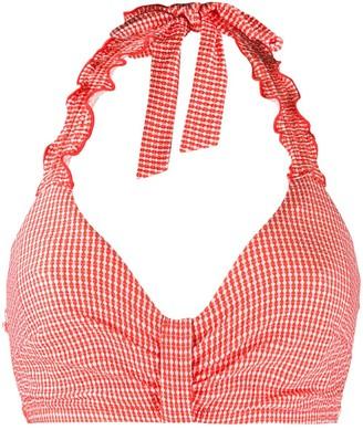 Marlies Dekkers Ruffled Halterneck Bikini Top