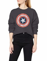 Thumbnail for your product : Marvel Women's Avengers Captain America Distressed Shield Sweatshirt