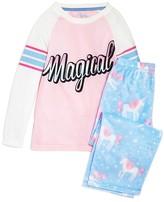 PJ Salvage Girls' Magical Unicorn Pajama Set - Sizes 8-14