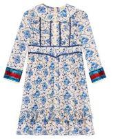 Gucci Little Girl's & Girl's Porcelain-Print Silk Dress