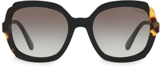 Prada 54MM Contrasted Rounded Square Sunglasses