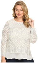 Lucky Brand Plus Size Stitch Shine Sweater
