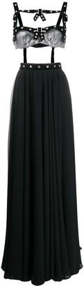 Philosophy di Lorenzo Serafini Crystal-Embellished Bustier & Skirt Set