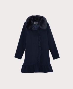 S. Rothschild Big Girls Ruffle Dress Coat with Collar