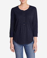 Eddie Bauer Women's Pleated Henley Top