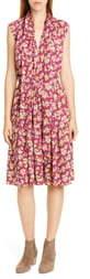 Polo Ralph Lauren Tie Neck Floral Silk Dress