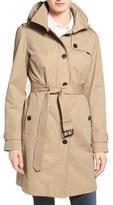 MICHAEL Michael Kors Hooded Trench Coat (Regular & Petite)