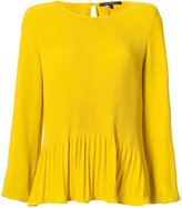 Luisa Cerano long-sleeve pleated blouse