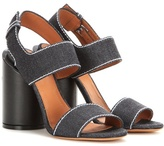 Givenchy Edgy Denim Sandals