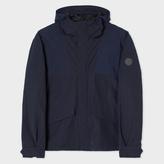 Paul Smith Men's Navy Cotton-Blend Showerproof Hooded Jacket