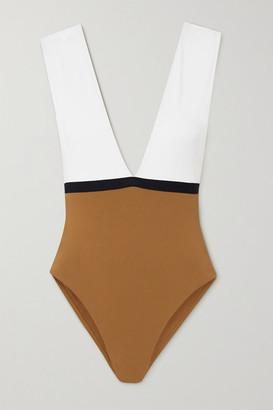 Eres Panama Ambera Color-block Swimsuit - White