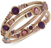 Nine West Gold-Tone 3-Pc. Set Stone and Crystal Bangle Bracelets