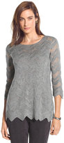 Chico's Chevron Gray Sweater