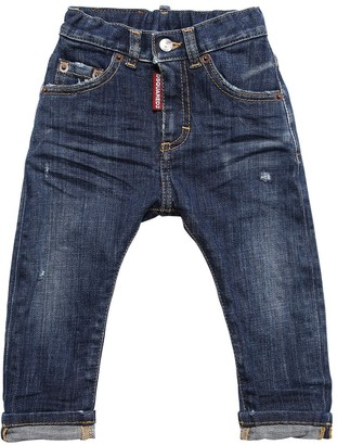 DSQUARED2 Destroyed Stretch Cotton Denim Jeans