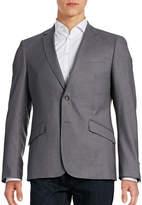 Sondergaard Slim-Fit Topstitched Suit Jacket