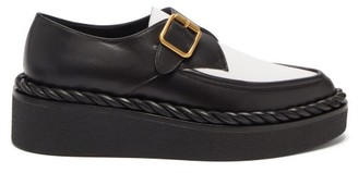 Valentino Exaggerated-sole Leather Loafers - Black White