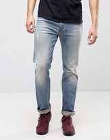 Diesel Buster Jeans Regular Slim Fit Jeans 0845f Mid Distressed Wash