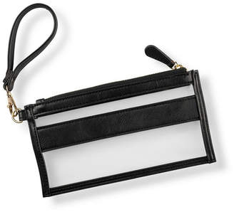 Cathy's Concepts Cathy Concepts Vegan Leather Clear Stadium Clutch