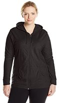 Just My Size Women's Full Zip Jersey Hoodie