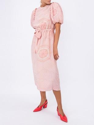 Simone Rocha Pink Puffed Sleeve Dress