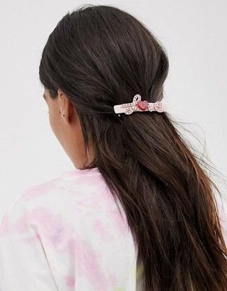 Margherita pink diamante LOVE hair clip
