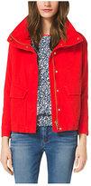 Michael Kors Cropped Canvas Jacket Plus Size