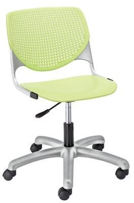 Peri KFI Studios Kool Poly Task Mid-Back Drafting Chair KFI Studios Upholstery Color