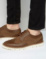 Pull&Bear Brogues With Rubber Sole In Tan