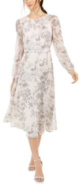 Tommy Hilfiger Petite Floral-Print Midi Dress, Created for Macy's