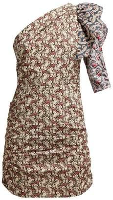 Etoile Isabel Marant Liila Paisley Print One Shoulder Dress - Womens - Pink Multi