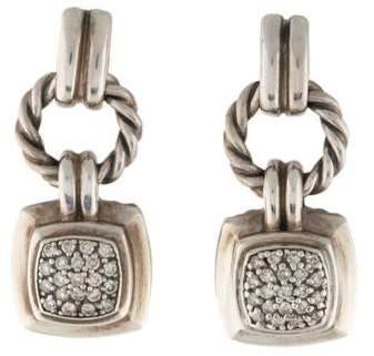 David Yurman Diamond Petite Albion Drop Earrings