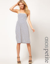 ASOS PETITE Stripe Sundress With Tie Shoulders