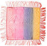 Roberto Cavalli Multicolor Fringe Scarf