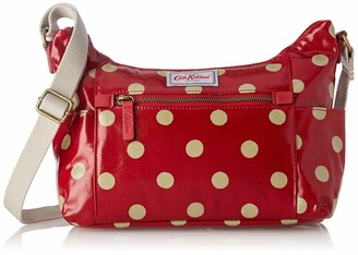 Cath Kidston 832403 Heywood Button Spot Cross Body Bag Berry Red Medium