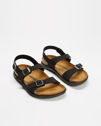 Birkenstock Women's Black Flat Sandals - Sonora Leather Sandals - Size 38 at The Iconic