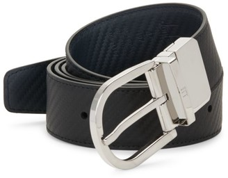 Dunhill Reversible Leather Buckle Belt
