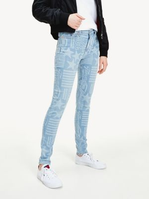 Tommy Hilfiger Nora Skinny Stars And Stripes Jeans