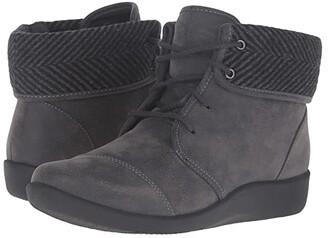 Clarks Sillian Frey (Grey Synthetic Nubuck) Women's Shoes