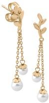 Majorica Gold-Plated Sterling Silver & Faux-Pearl Drop Earrings