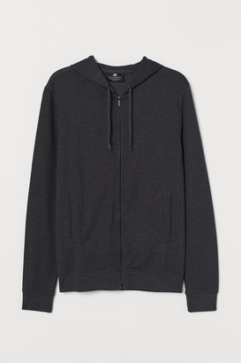 H&M Slim Fit Hooded Jacket - Black
