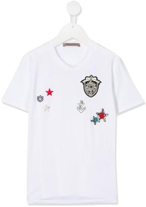 Ermanno Scervino embroidered icon T-shirt