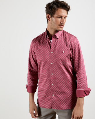 Ted Baker CROISSY Cotton geo shirt
