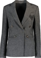 Brunello Cucinelli Tweed Jacket With Monili Chevron Pocket